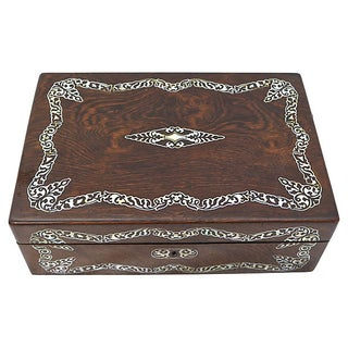 Antique English Pearl Inlay Writing Box Preview