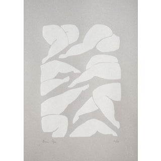 Contemporary Minimalist Abstract Limited Edition Screen Print, A3 For Sale