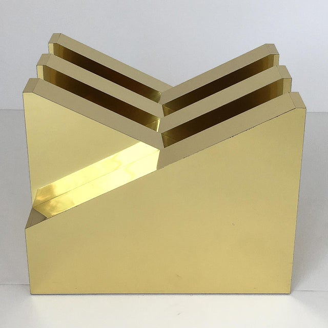 Modern Sculptural Brass Clad Coffee Table For Sale - Image 9 of 13