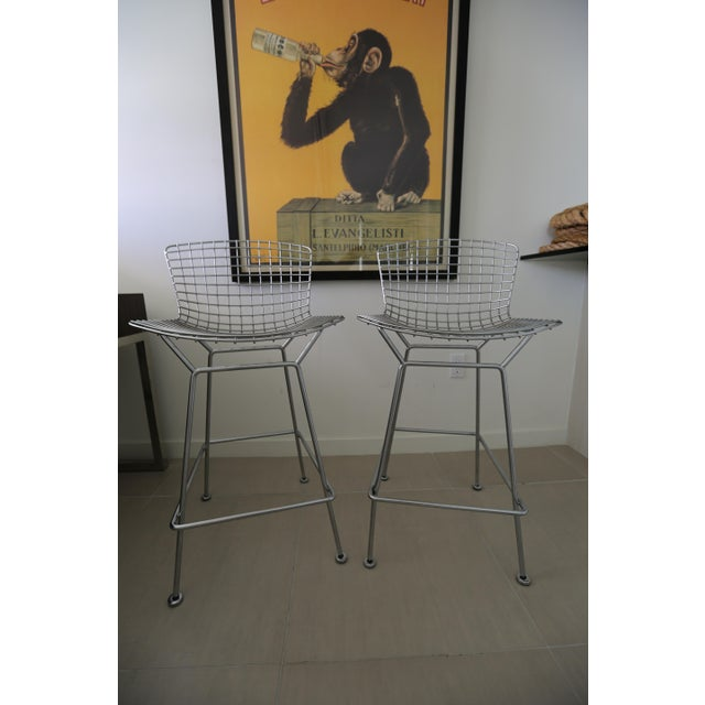 Harry Bertoia Barstools for Knoll - A Pair - Image 2 of 3