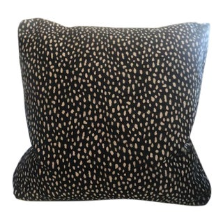 Black & White Hair on Hide Pillow For Sale