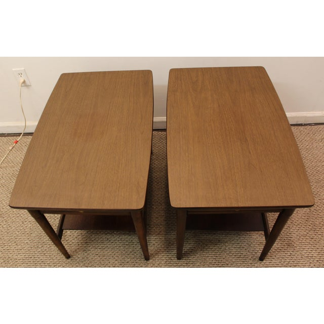Mid-Century Danish Modern Walnut Side Tables - A Pair - Image 5 of 11