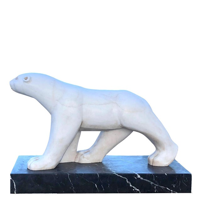Marble 20th Century Polar Bear After Francois Pompon For Sale - Image 7 of 7