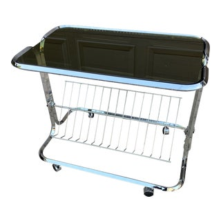 1970s Mid-Century Space Age Display Cart For Sale
