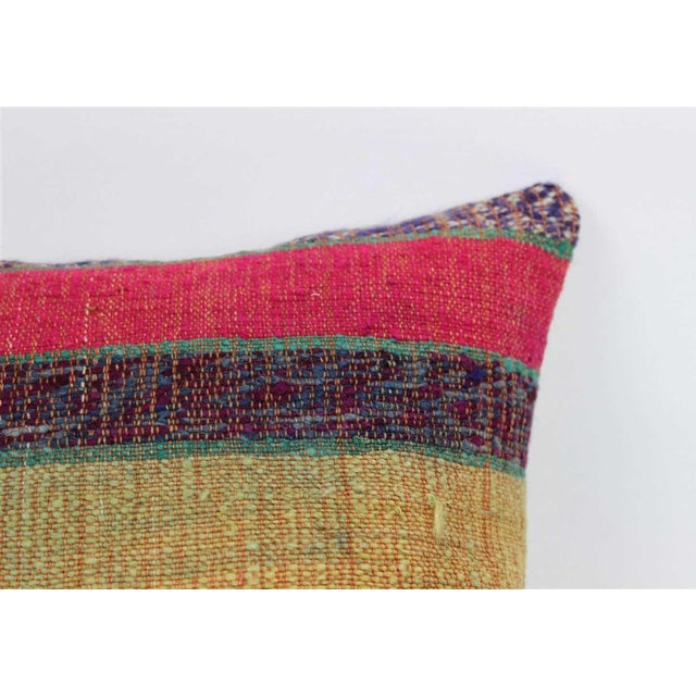 Hand woven one of a kind square kilim rug pillow case. My beautiful pillows and cushion covers are made from vintage hand-...
