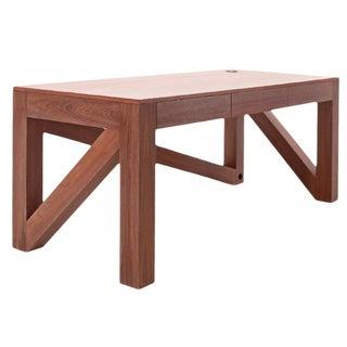 American Contemporary Black Walnut Desk For Sale
