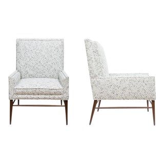 Pair of McIntosh Stepped Arm Armchairs For Sale