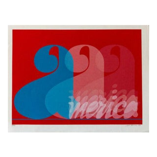 1970s Jack Brusca America Hand Signed Silkscreen For Sale