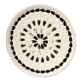 Black & White Ceramic Mosaic Tray For Sale