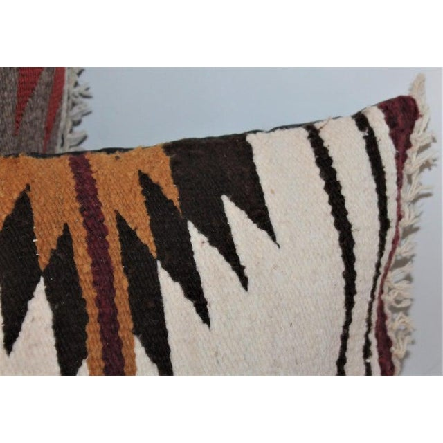 Navajo Indian Saddle Weaving Pillows - Set of 2 For Sale - Image 4 of 12
