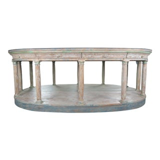 Neoclassical Style Painted Sideboard W/ Mirrored Top For Sale