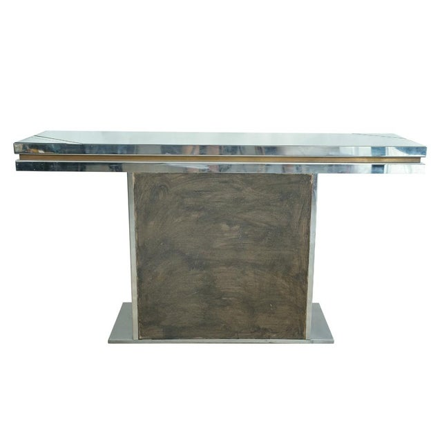 Romeo Rega Glass Top Console For Sale - Image 6 of 7
