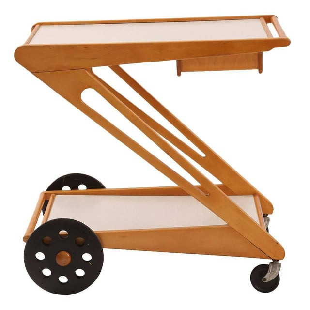 Brown Rare Cees Braakman for Pastoe Bar or Tea Cart For Sale - Image 8 of 8