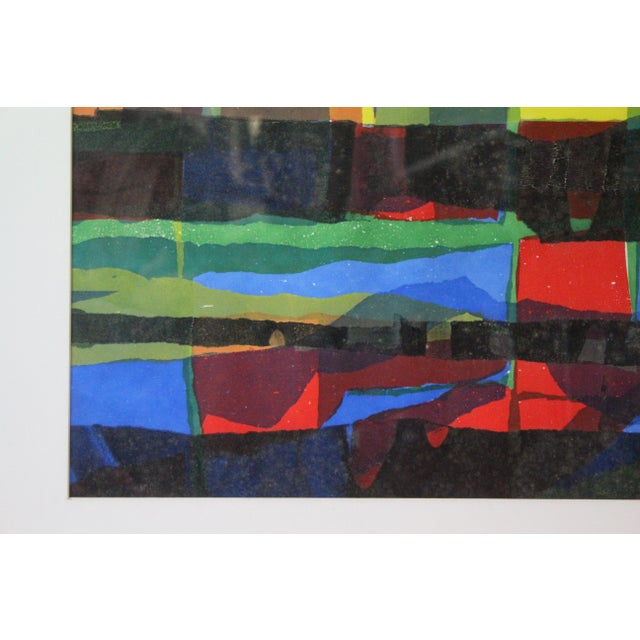 Abstract Framed Rainbow Print For Sale In New York - Image 6 of 8