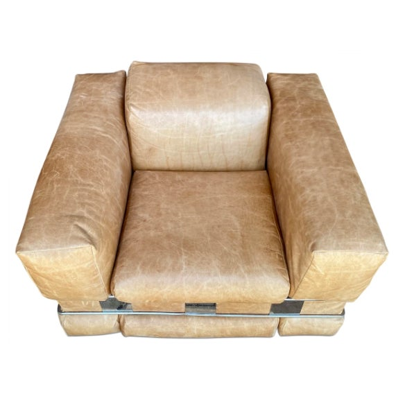 Adrian Pearsall Leather Arm Chairs - a Pair For Sale In Los Angeles - Image 6 of 7