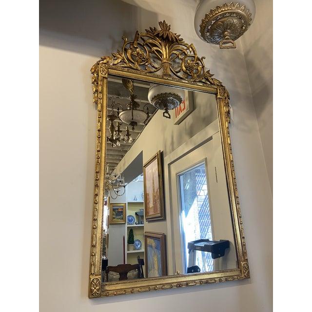 Wood Vintage Hollywood Regency Gilt Accent Mirror For Sale - Image 7 of 7