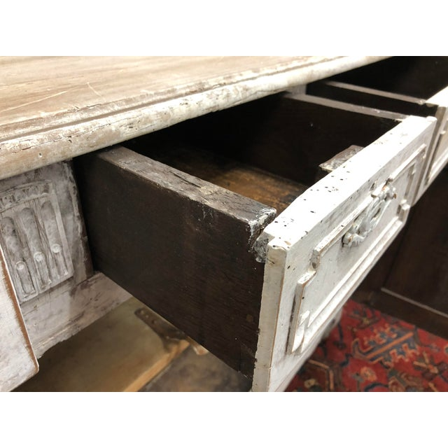 Wood Early 19th Century French Washed Buffet For Sale - Image 7 of 9