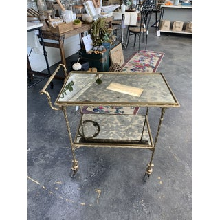 Josie Antique Mirrored Rolling Cart Preview