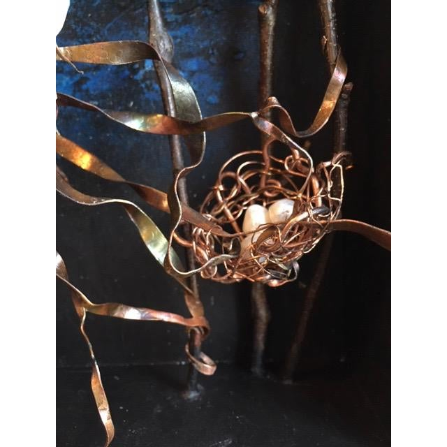 Contemporary Dove Returning to the Nest Sculptural Wall Object For Sale - Image 3 of 4