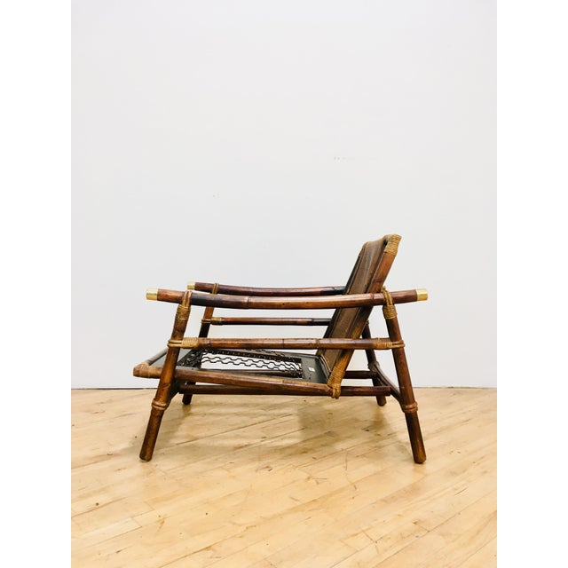 Authentic Signed Ficks Reed Rattan Campaign Chair- 1954 For Sale - Image 12 of 13