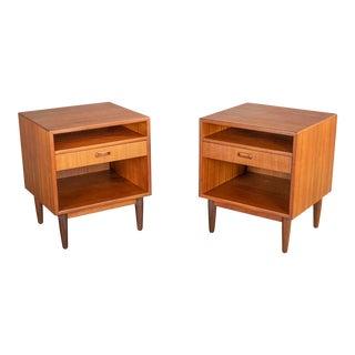 Falster Møbelfabrik Arne Vodder Danish Teak Nightstands or Side Tables For Sale