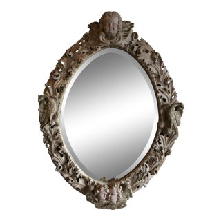 19th C. Antique Italian Rococo Mirror For Sale