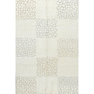 Contemporary Hand Woven Rug - 6' x 9' For Sale