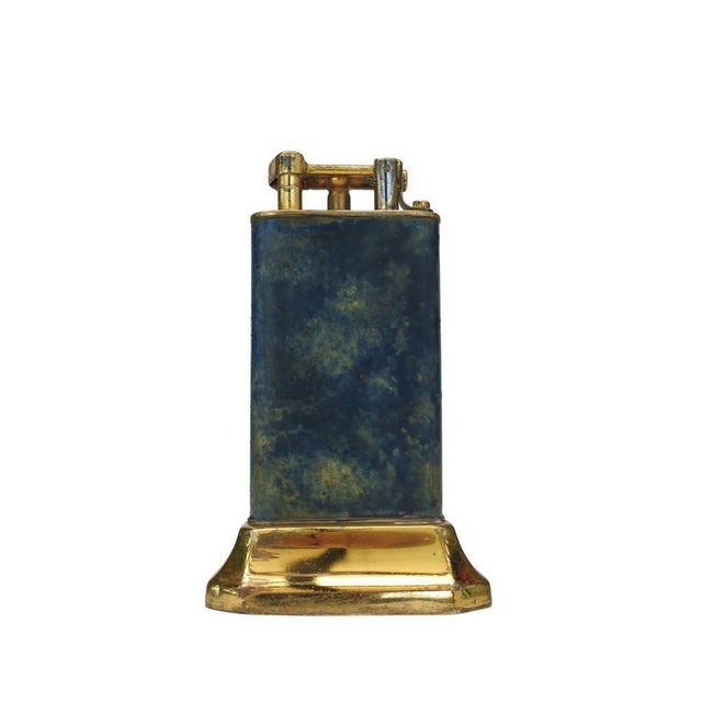 Aged Lift Arm Table Lighter by Dunhill - Image 2 of 9