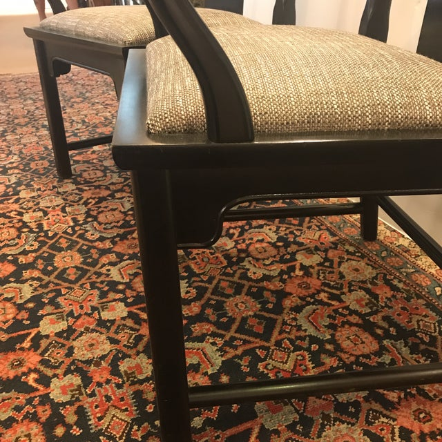 Mid-Century Modern Asian Style Armchairs - a Pair For Sale - Image 10 of 12