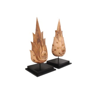 Buddha Flame Sculptures - a Pair For Sale