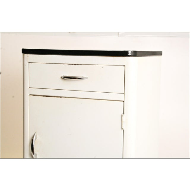 Mid-Century Enamel Top Metal Storage Cabinet - Image 4 of 11