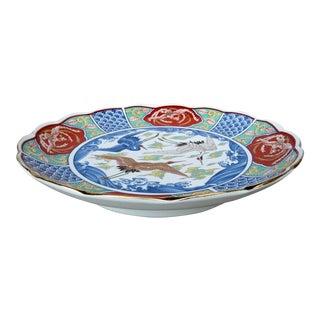 Vintage Japanese Imari Porcelain Plate For Sale