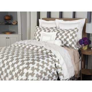 Newberry Duvet Cover Beige in Full For Sale