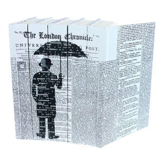 Image Collection London Umbrella Books - Set of 5 For Sale