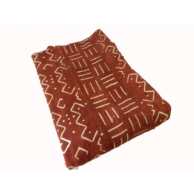 African Chocolate & Ivory Mud Cloth - Pair - Image 5 of 9