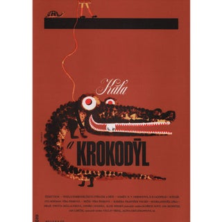 Katia and the Crocodile R1980s Czech A3 Film Poster For Sale