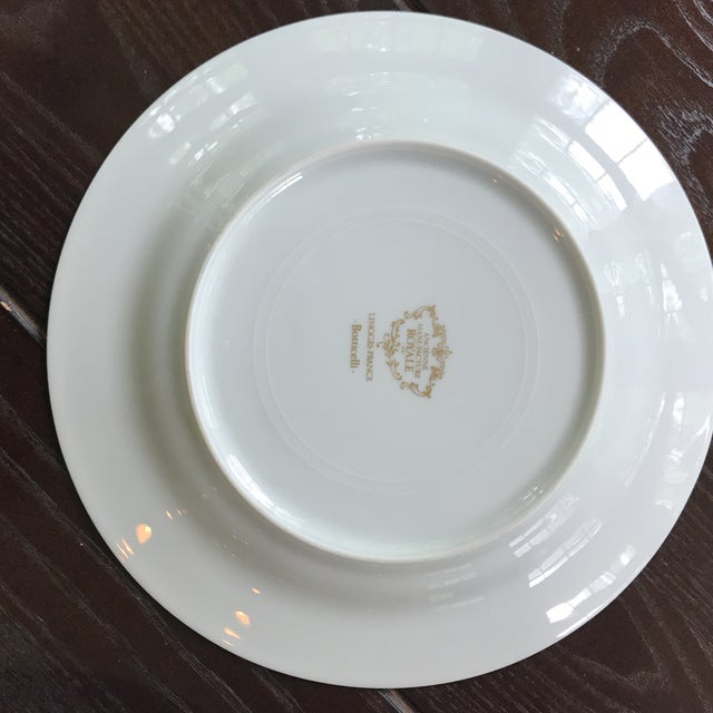 Limoges Ancienne Manufacture Royale 'Botticelli ' Plates - a Pair For Sale - Image 5 of 5