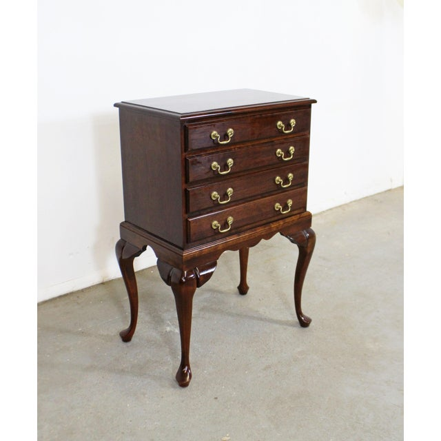 Vintage Chippendale Statton Attributed Old Town Cherry Silver Chest For Sale - Image 13 of 13