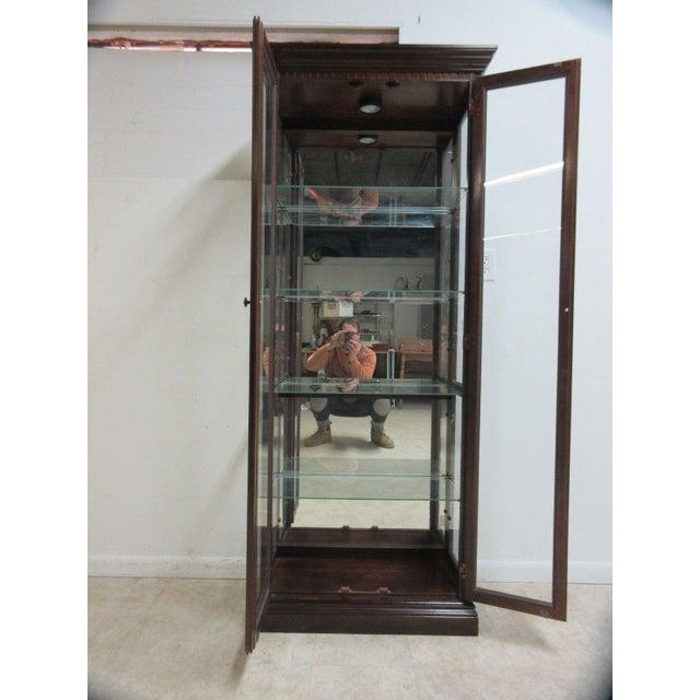 Modern Vintage Pulaski Mahogany China Cabinet For Sale - Image 3 of 11