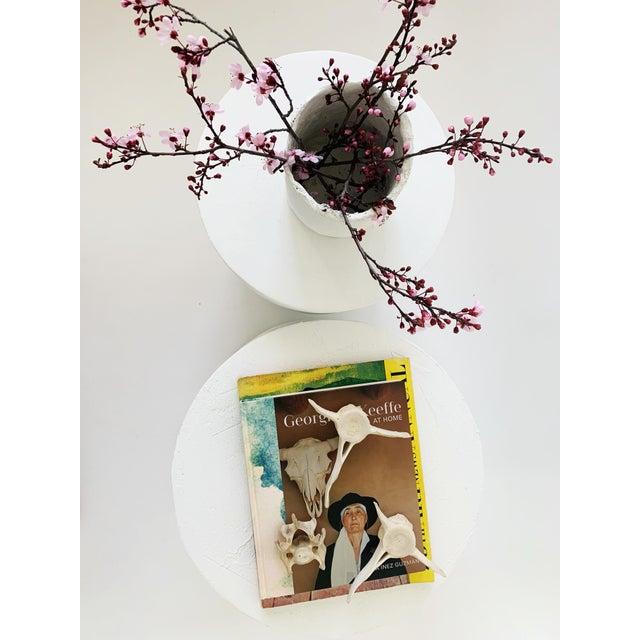 The Matilda Mushroom Shape Plaster Side Table For Sale - Image 4 of 6