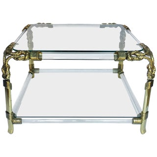 Hollywood Regency Style Sculptural Rope Cocktail Table by Meubles Curvasa, Spain For Sale