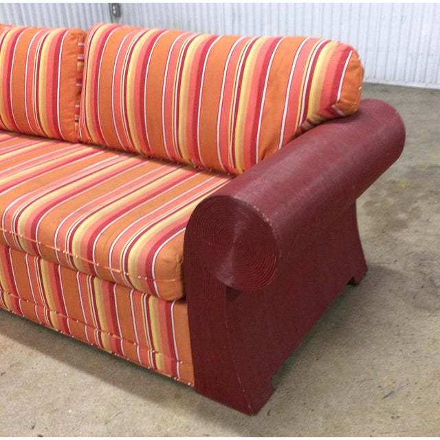 1980s Vintage Split Reed Sofa For Sale In West Palm - Image 6 of 7