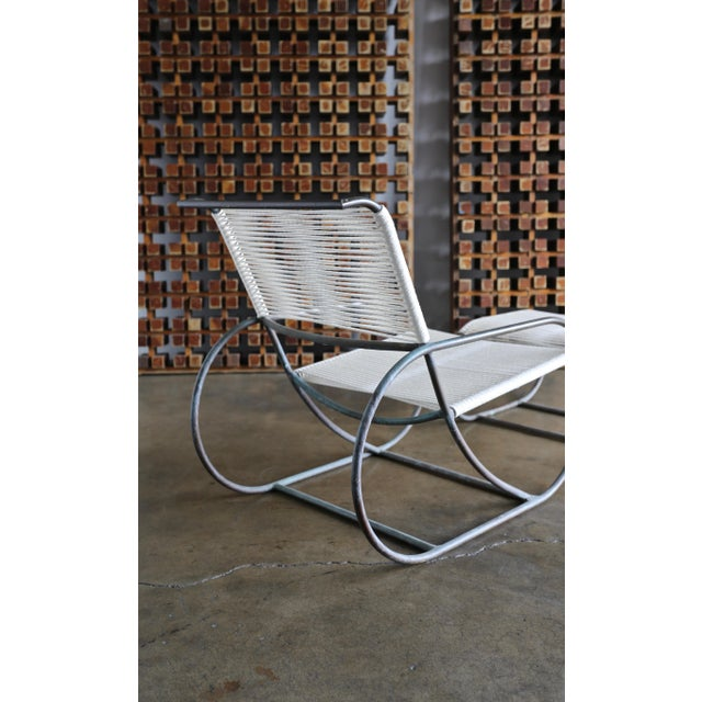Bronze Outdoor Lounge Chair and Ottoman by Kipp Stewart for Terra of California For Sale - Image 11 of 13