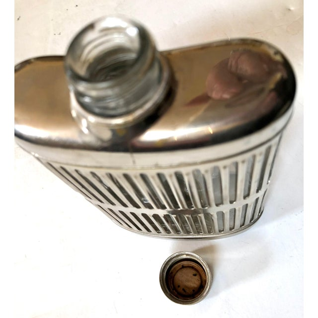 Mid 20th Century Silver Metal Hip Flask For Sale - Image 5 of 6