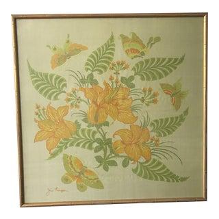Jim Thompson Framed Silk For Sale