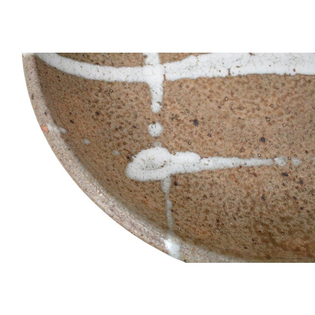 1960s Abstract Japanese Pottery Charger For Sale - Image 9 of 13