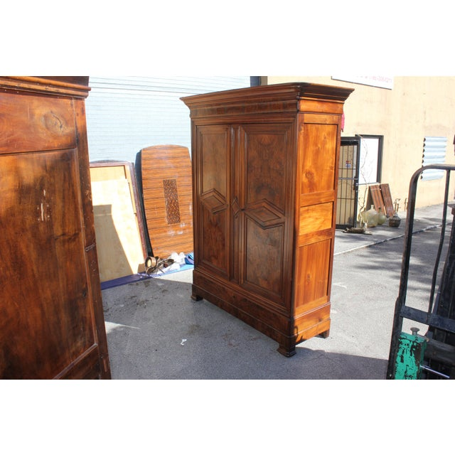 19th Century French Louis Philippe Walnut Armoire Period Chateau Circa 1850s - Image 5 of 11