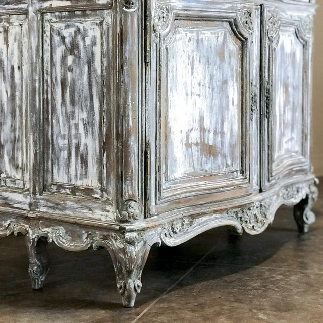 Mid 19th Century 19th Century French Regence Whitewashed Commode For Sale - Image 5 of 13