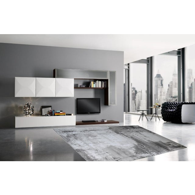 Abstract Abstract Area Rug Gray - 5'3'' x 7'7'' For Sale - Image 3 of 5