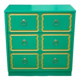 Image of Vintage Mid Century Dorothy Draper Style Three Drawer Chest For Sale